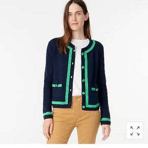 NWT J.Crew Tipped Sweater Jacket - Size Small